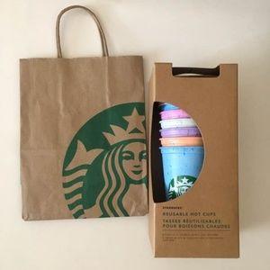 Starbucks Marble Hot Cups 16oz Summer 2019